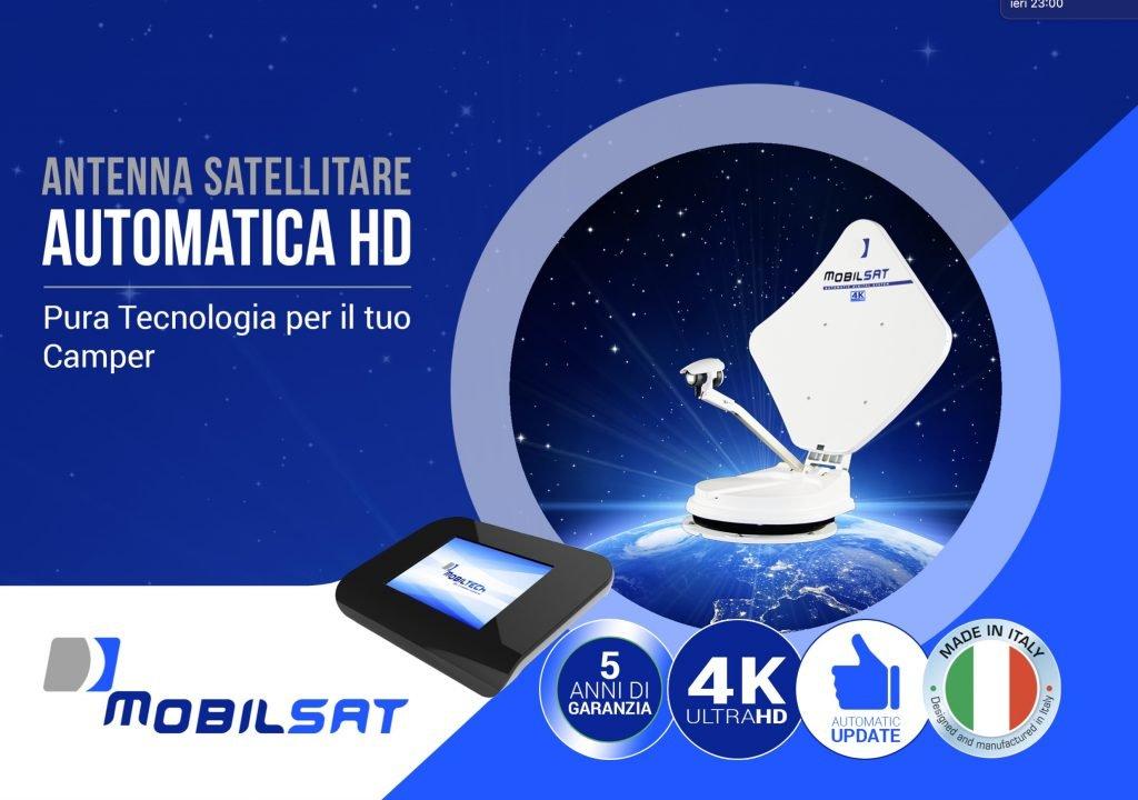 Antenna satellitare ad alte prestazione mobilsat